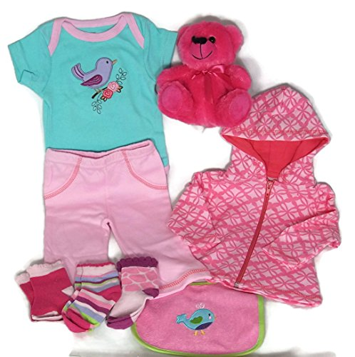 Sunshine Gift Baskets - Little Girl Jogger Newborn Winter Baby Gift Set