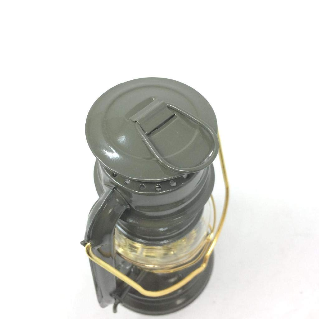 Indoor//Outdoor Khaki Time Concept Vacances Standard Big LED Lantern Battery-Operated Light SFVL1520KH Retro Style Camping Lamp