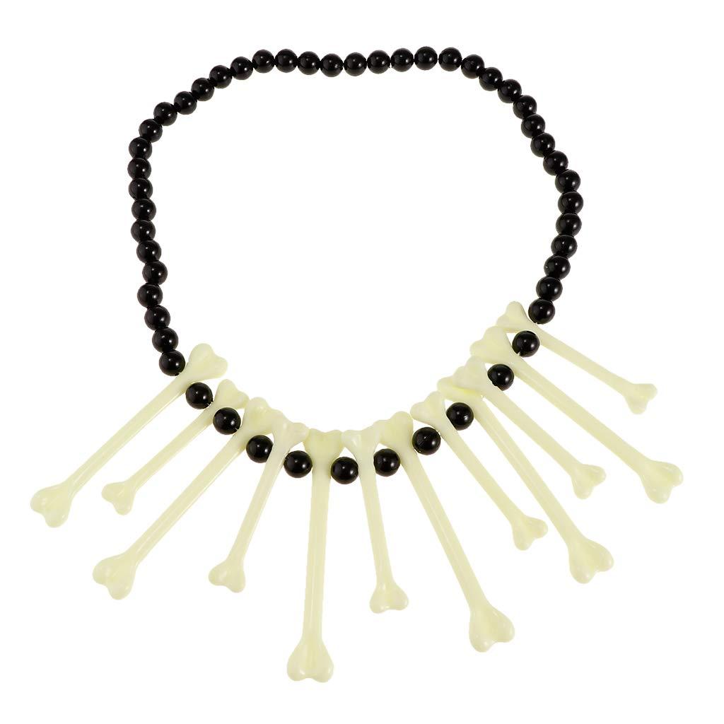 P Prettyia 1 Pieza Collar de Huesos de Pl/ástico de Moda Fresca Unisex Suministro de Envoltorio Reserva de Fiesta
