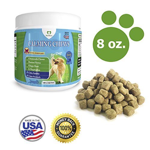Aggression Flower - PawPaws WP-300 Anxiety Relief/Calming Chews for Dogs, Natural Ingredients, Chamomile Flower, Passion Flower, Ginger Root, For All Dogs, Made in USA (8 oz)