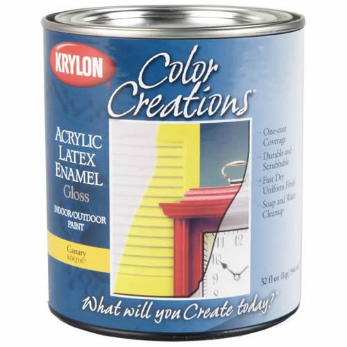 Krylon K09624000 COVERMAXX - Quart, Gloss Sun Yellow, 32 Ounce