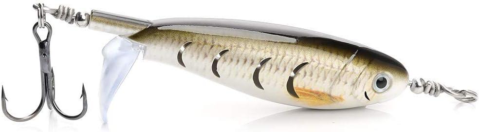 L-MEIQUN Angelk/öder Minnow Whopper Plopper 7,5 cm 8,29 g Topwater Hard Lure Tackle mit Rotating Tail Wobbler for Hechtangeln