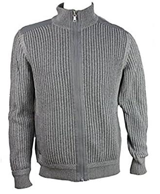 Calvin Klein Men's Knit Full Zip Sweater Puddle Grey - XL