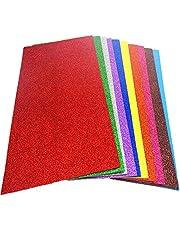 Kleur Eva Foam Sheets Glitter Schuim Kleur Ambachtelijke Schuimplaat 10 Kleuren Goud Poeder Spons Papier Schuim Papier Eva Lijm Kleur Spons Papier Glitter Spons Papier Handgemaakte Diy Materiaal