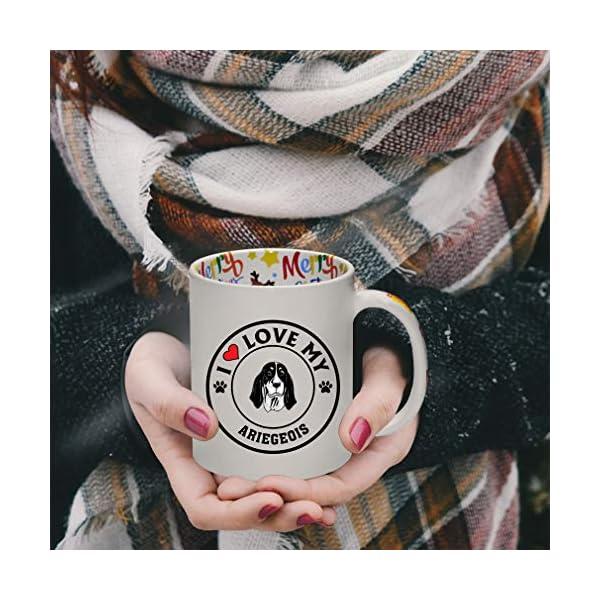 Ceramic Christmas Coffee Mug I Love My Ariegeois Dog Style A Funny Tea Cup 4