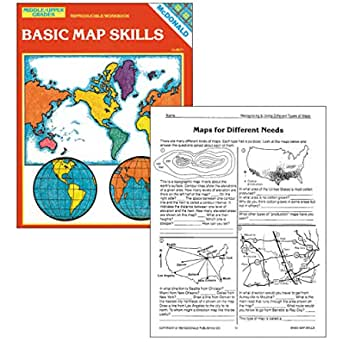8.5 Wide 11 Length McDonald Publishing MC-R651 Basic Map Skills Reproducible Book 0.2 Height Grade: 6 to 9