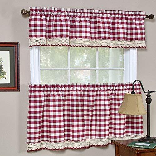 Buffalo Check Tier Curtains