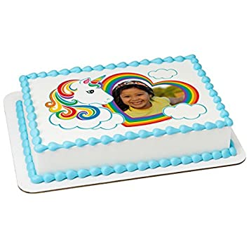 Magical Unicorn Photo Frame Add Your Own Picture Edible Frosting