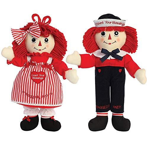 Doll Set Andy (Aurora World Raggedy Ann & Andy Blessings Soft Dolls Set)