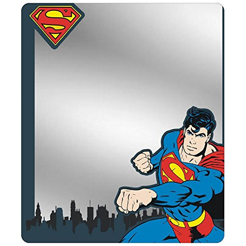 Locker Mirror - Superman Shield/Punching Pose/Skyline -