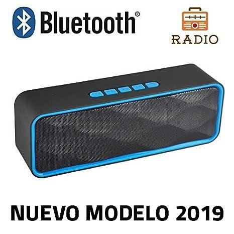 Altavoz Bluetooth Unicview SC-211 Azul Estéreo con Radio Altavoces ...