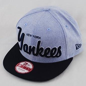 dc2834c93ec1c New Era 9fifty NY New York Yankees Scholar Retro Navy Blue Snapback Hat  Cap  Amazon.co.uk  Clothing