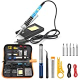 Tabiger Soldering Iron Kit 15-in-1, 60W Soldering Iron with Adjustable Temperature, Soldering Gun,5pcs Soldering Iron...