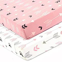 Stretchy Fitted Crib Sheets Set-Brolex 2...