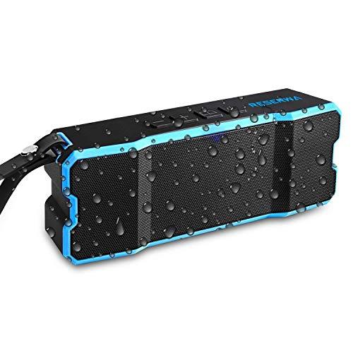 (Reserwa Bluetooth Speakers IPX6 Waterproof Dustproof Shockproof Superior 3D Stereo Speakers with Dual-Driver and Built-in Mic Wireless Speakers 33-Foot Bluetooth Range Portable Speaker (Blue))