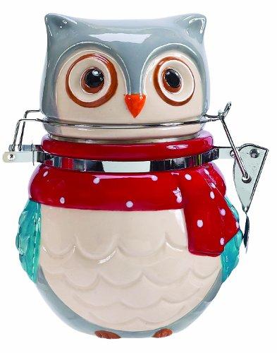 (Boston Warehouse Snowy Owls Hinged Jar)
