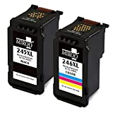 MIROO Remanufactured Canon PG-245XL CL-246XL PG245 CL246 XL Ink Cartridge Combo, Work with Canon PIXMA MX492 MG2520 MG2920 MG2420 MG2522 MG2922 IP2820 MX490 MG2525 MG3020 MG2555 MG2924 Printer