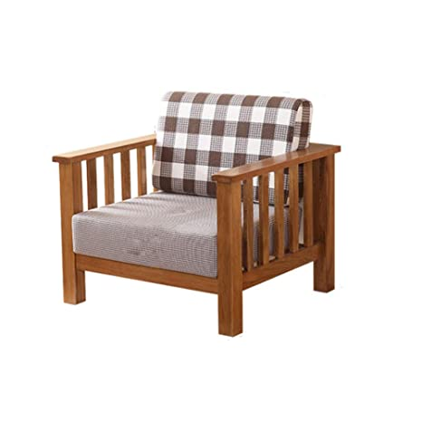 Amazon.com: MIKEWEI Retro All Solid Wood Sofa Combination ...