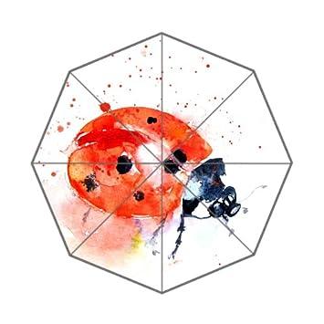 Flipped Summer Y Paraguas con Estampado Ladybug de Acuarela, Impresiones Artísticas Personalizadas