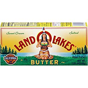 Land O' Lakes Sweet Cream Salted Butter, Four Sticks, 1 lb