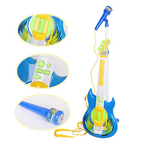 Livebest Electronic blue Guitar MP3 Player & Karaoke Play Set Kids Musical Sing Toy Playset