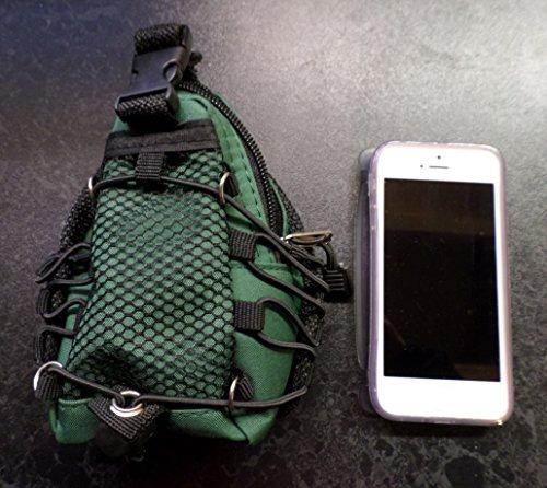 Mini Escalada Espalda / Mochila / Mochila for Llaves, Móviles, iPods etc - Verde camuflaje