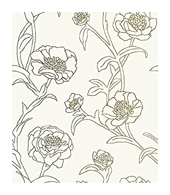 """Tempaper PE042 Self-Adhesive Removable Wallpaper, 20.5"""" x 396"""", Gold Leaf"""