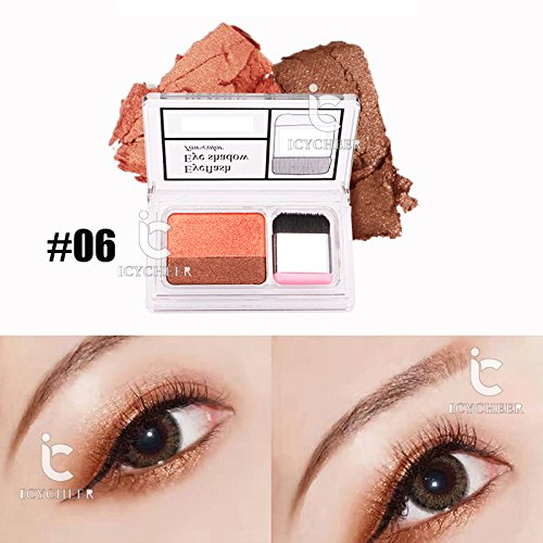 Icycheer Makeup Magazine Lazy Eyeshadow Stamp Holiday Edition Eye Shadow Double Color Shimmer Palette Long Lasting Natual Nude Eye Shadow