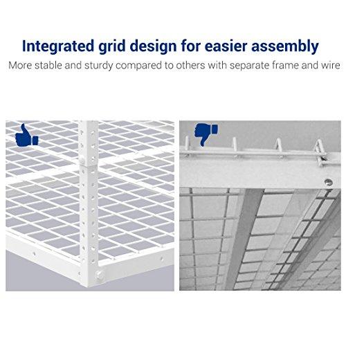 FLEXIMOUNTS 4x6 Heavy Duty Overhead Garage Adjustable Ceiling Storage Rack, 72'' Length x 48'' Width x 40'' Height, White by FLEXIMOUNTS (Image #3)