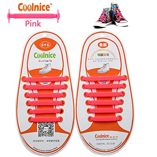Coolnice No Tie Flat Shoelaces for Kids, Men & Women | Waterproof & Stretchy Silicone Tieless Shoe Laces | for Hiking Boots Sneaker & Casual Dress Athletic Shoes | Eliminate Loose Shoelace Accidents - Covered Up Costumes