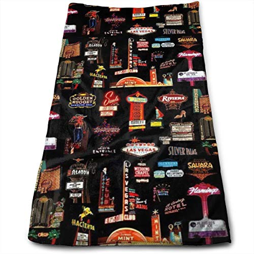 - Las Vegas Skyline Compressed Quick-Dry Velour Fingertip Towels Washcloth - Carry-on, Durable, Lightweight, Commercial Grade, Ultra Absorbent - 12x27.5 Inches