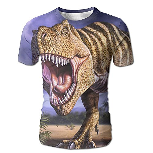 Men Tyrannosaurus Roaring Cool Tshirt Quick Dry Baseball Sports Tees Denim Sports Valance