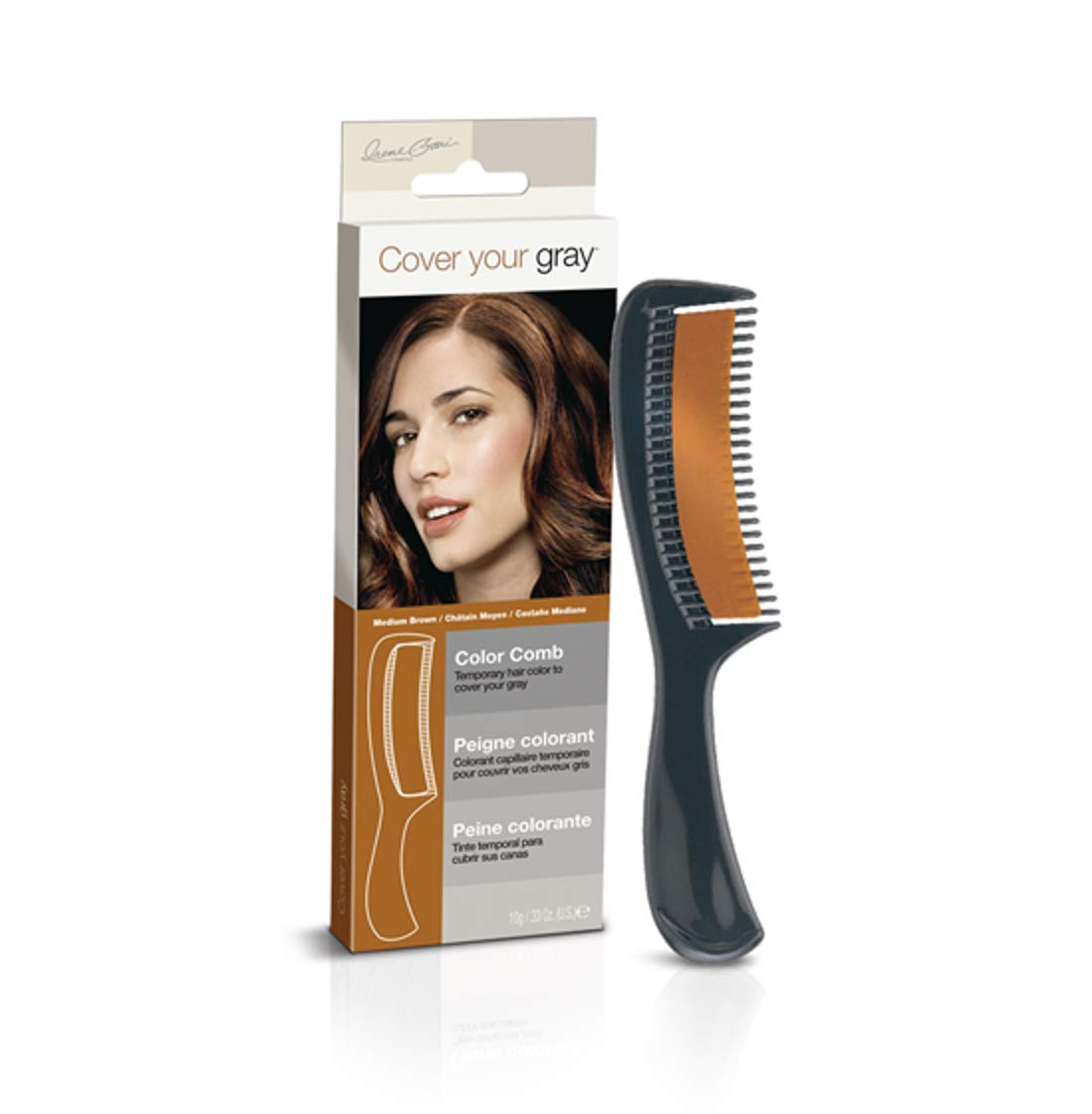 Amazon Cover Your Gray Color Comb Medium Brown Hair Combs