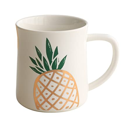 a552911bc02 Amazon.com | Ins Cute Pineapple Porcelain Coffee Mug Ice Beer Cola ...