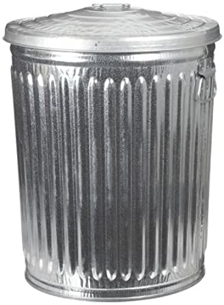 galvanized trash can witt industries wcd32cl galvanized steel 32 28544