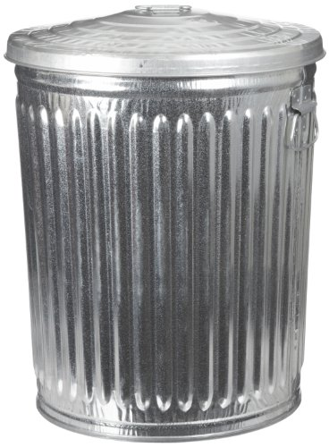 Witt Industries Galvanized Steel 32-Gallon Trash Can with Lid