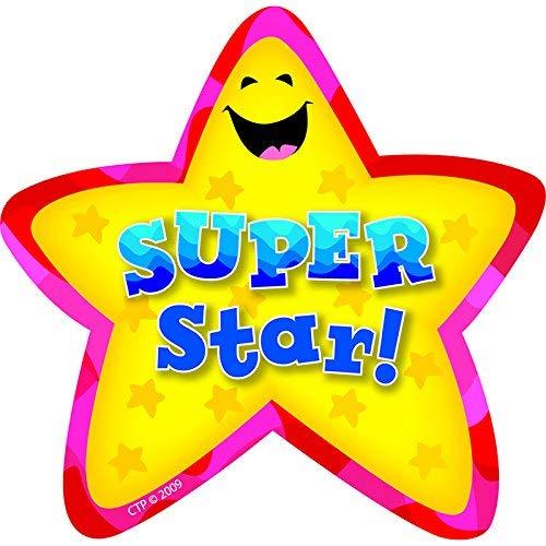 CREATIVE TEACHING PRESS STAR BADGES SUPER STAR 36/PK (Set of 12)