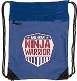 Cheap American Ninja Warrior Polyester Drawstring Cinch Backpack, Royal