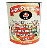 Tedone Superfoods San Marzano DOP Authentic Whole Peeled Plum Tomatoes - 28 oz cans (Pack of 6)