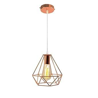 Moderne Lustre Suspension Forme Diamant Lampe De Plafond Abat Jour