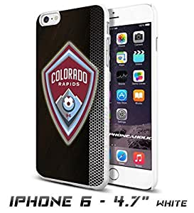 Soccer MLS Colorado Rapids FC LOGO SOCCER FOOTBALLCool iPhone 6 - 4.7 Inch Smartphone Case Cover Collector iphone TPU Rubber Case White [By PhoneAholic]