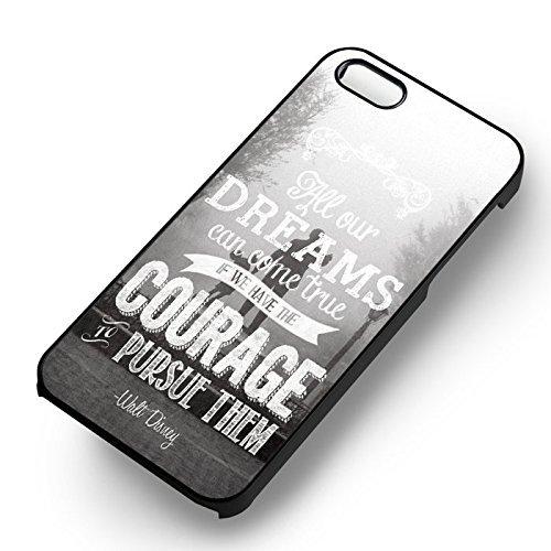 Disney Dream Quote pour Coque Iphone 6 et Coque Iphone 6s Case (Noir Boîtier en plastique dur) O5P7UN