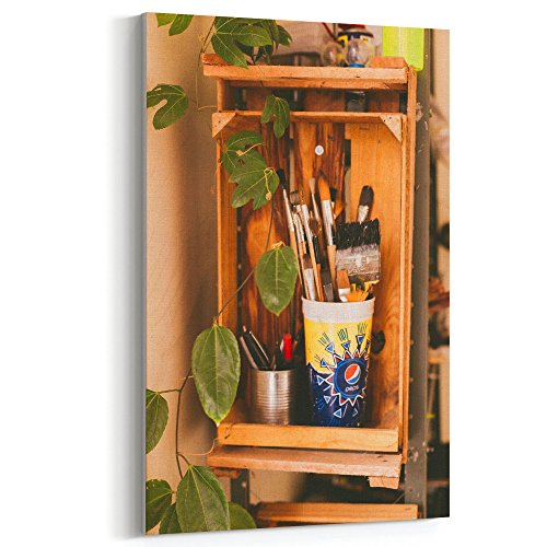 Westlake Art - Table Furniture - 12x18 Canvas Print Wall Art - Canvas Stretched Gallery Wrap Modern Picture Photography Artwork - Ready to Hang 12x18 Inch (Bamboo Forest Storage Cabinet)