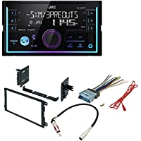 JVC KW-R930BTS 2-Din In-Dash Car Stereo CD Player w/Bluetooth/USB/iPhone/Sirius XM CAR STEREO DASH KIT W/ WIRING HARNESS FOR SELECT BUICK CADILLAC CHEVROLET GMC HUMMER ISUZU OLDSMOBILE PONTIAC