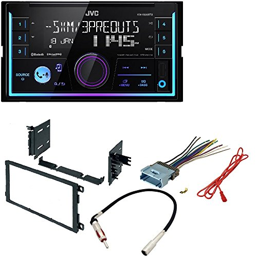 JVC KW-R930BTS 2-Din in-Dash Car Stereo CD Player w/Bluetooth/USB/iPhone/Sirius XM CAR Stereo Dash KIT W/Wiring Harness for Select Buick Cadillac Chevrolet GMC Hummer Isuzu Oldsmobile Pontiac