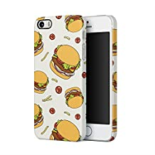 Fast Food Burgers French Fries Pattern Apple iPhone 5, iPhone 5s, iPhone SE Plastic Phone Protective Case Cover