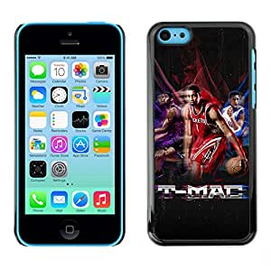 BasketCase Tracy McGrady Tribute Basketball Apple Iphone 5C / / Slim 360 Protection Case Cover PC / Aluminium Protector Shell Rugged