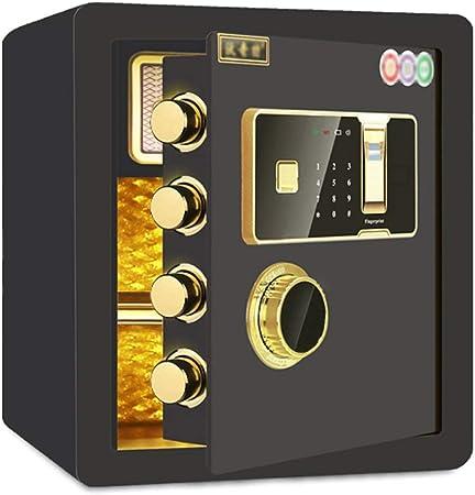 Caja de seguridad Segura Privada Caja Fuerte Dinero de Alarma de ladrón de Acero contraseña de Bloqueo antirrobo LITING (Color : Black): Amazon.es: Hogar
