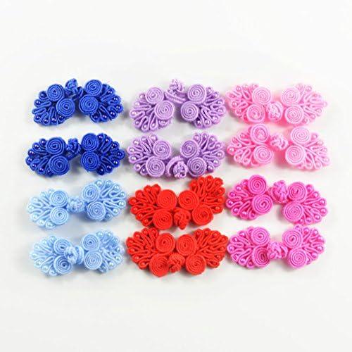 多彩な 中国ノット ボタン DIY ヘアアクセサリー チャイナドレス 飾り 12個入り