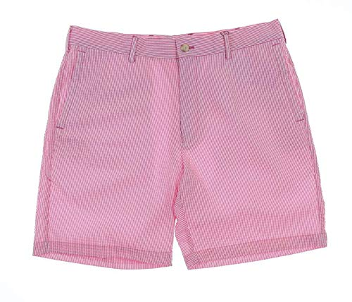 - PETER MILLAR New Mens Seersucker Pinstripe Shorts Size 34 Pink/White
